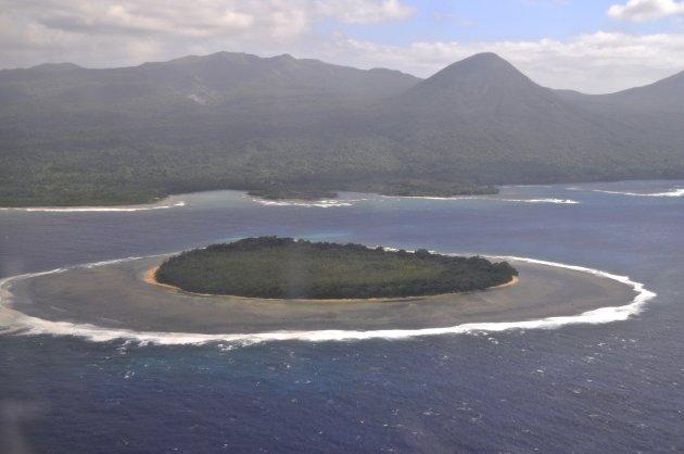 eiland vanuit de lucht