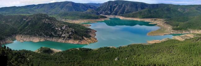 Water reservoir in binnenland Spanje