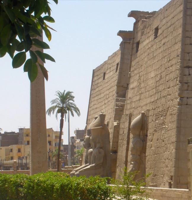 Luxor bij vertrek