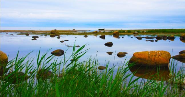 De kust van Litouwen