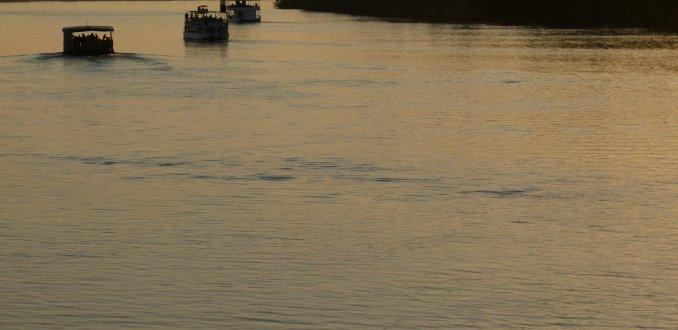 Sunset over Zambezi river