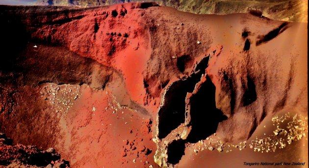 Rode krater, Tongariro National Park