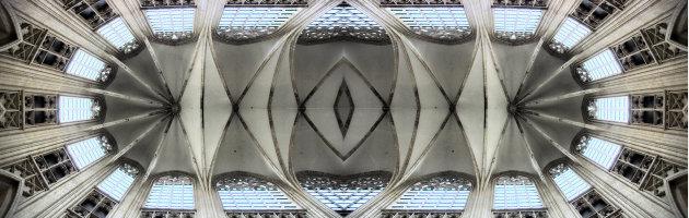 Plafond van de St Pieterskerk