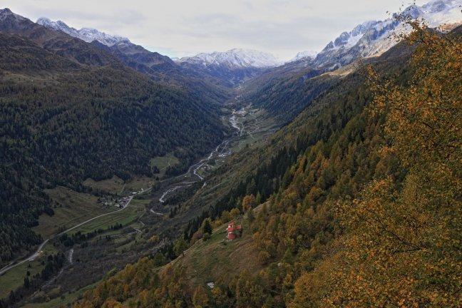 In de bergen bij de St. Gotthardpass