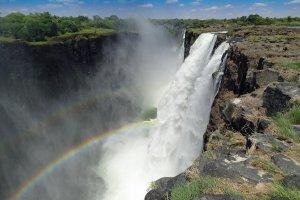 Rainbows down the falls