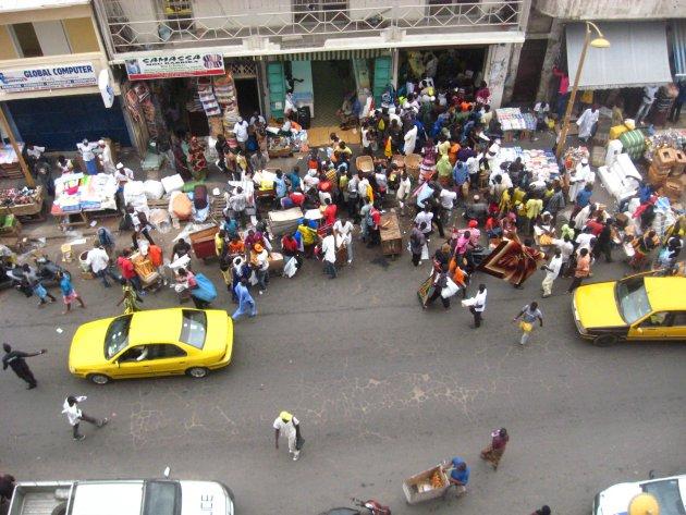 Drukte in Dakar