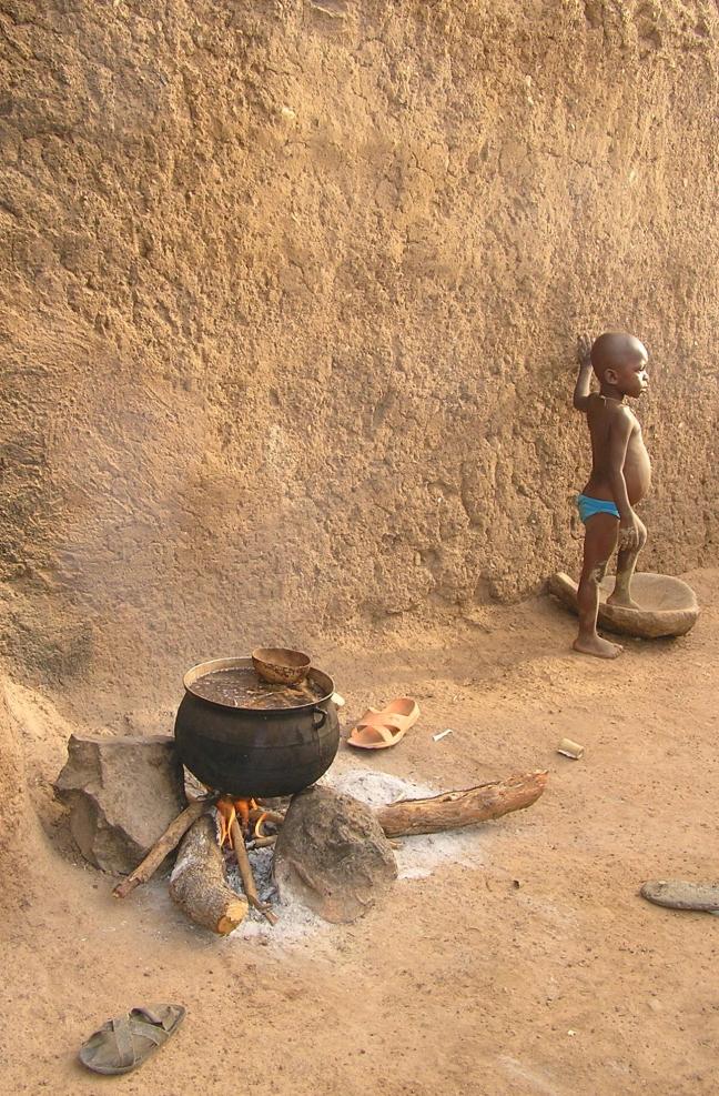 Jongetje van de Lobi stam