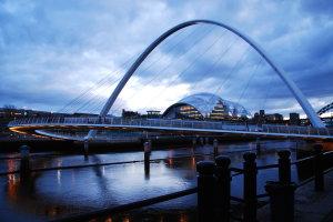 Zonsondergang Newcastle Upon Tyne