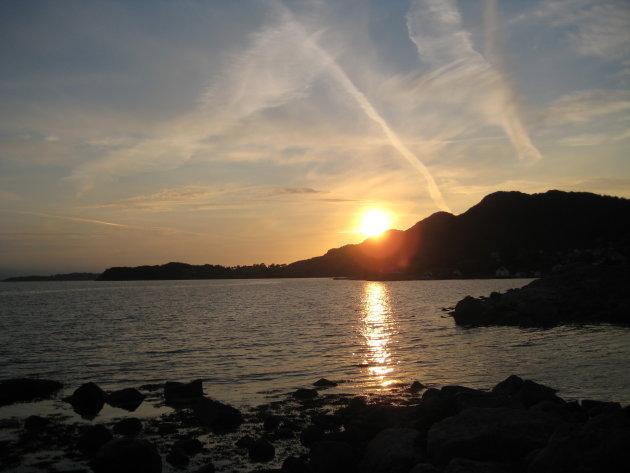 zons ondergang Noorwegen