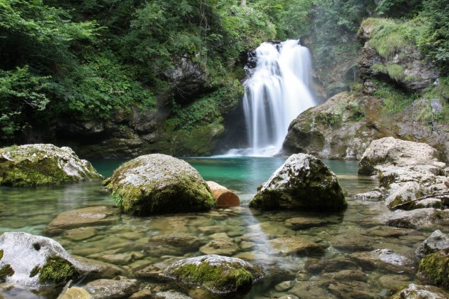 waterval in de Vintgar kloof