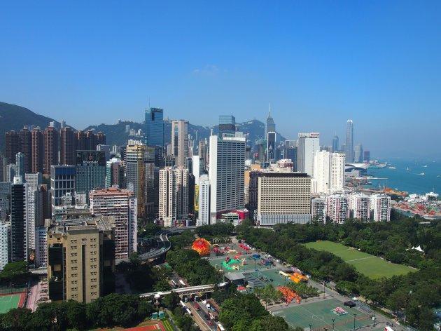 Wolkenloos Hongkong