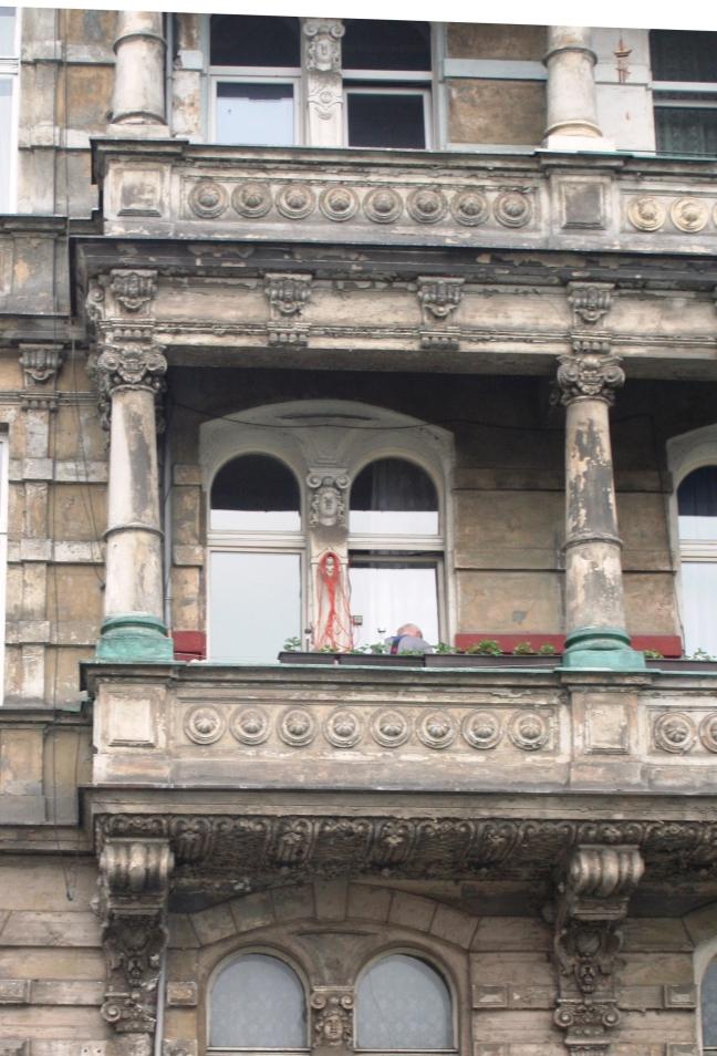 Balkonnetje in het centrum van de stad