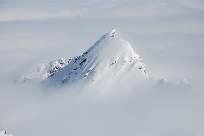 Kitzsteinhorn met opkomende mist
