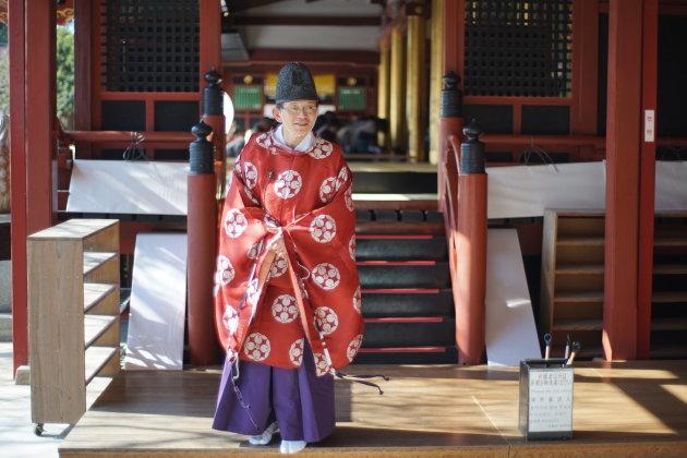 Shinto priester heet u welkom!