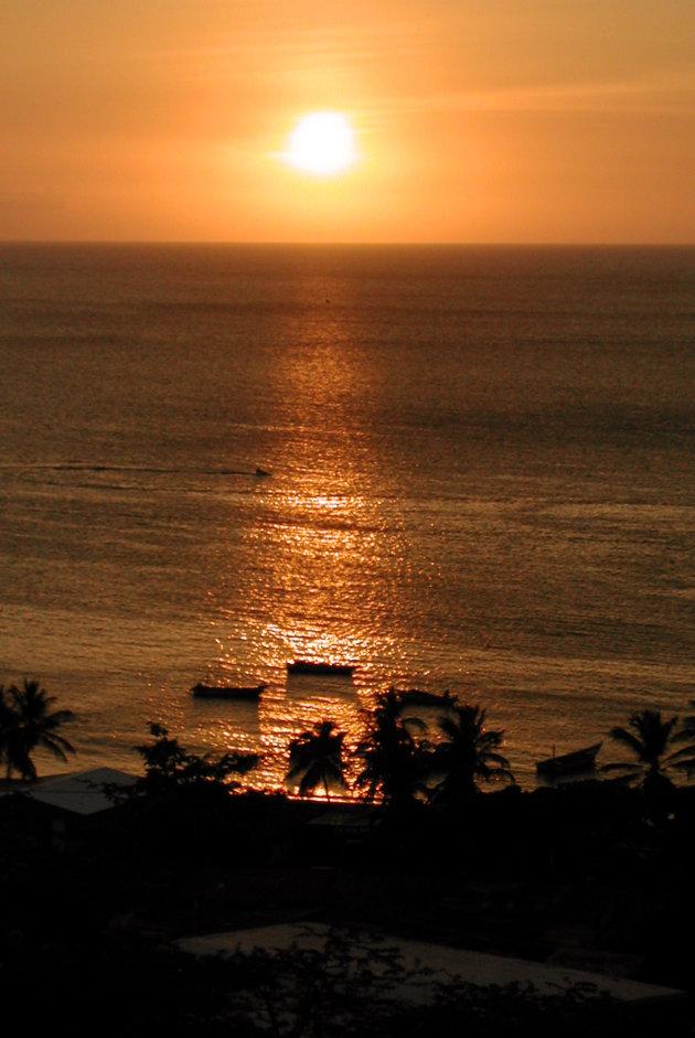 Zonsondergang op Isla Margarita
