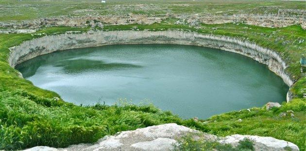 Een sinkhole in Turkije.