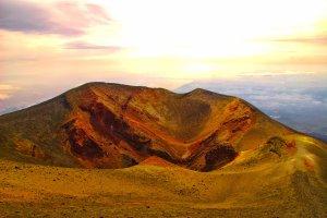 Zonsondergang op de Etna
