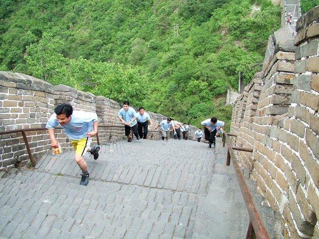 Rennen op de Chinese Muur