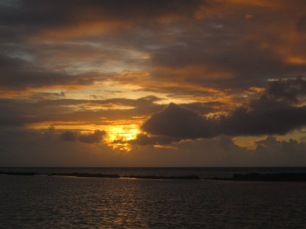 Malediven, zonsondergang