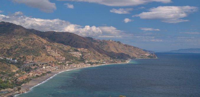 Taormina coastline and beach