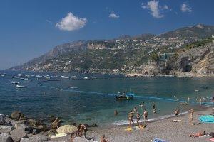Maiori beach and coastline