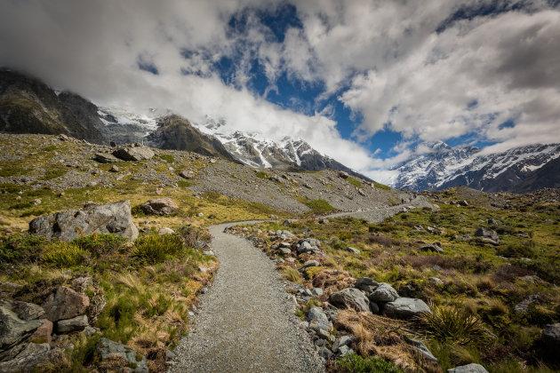 Wandelpad in de bergen