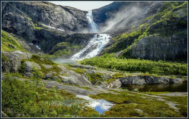 Vier watervallen