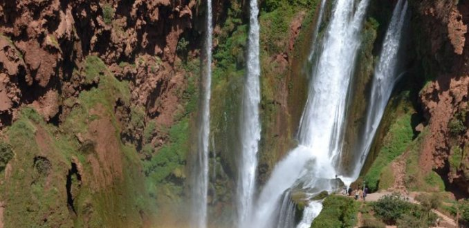 Watervallen Cascades d'Ouzoud in Marokko
