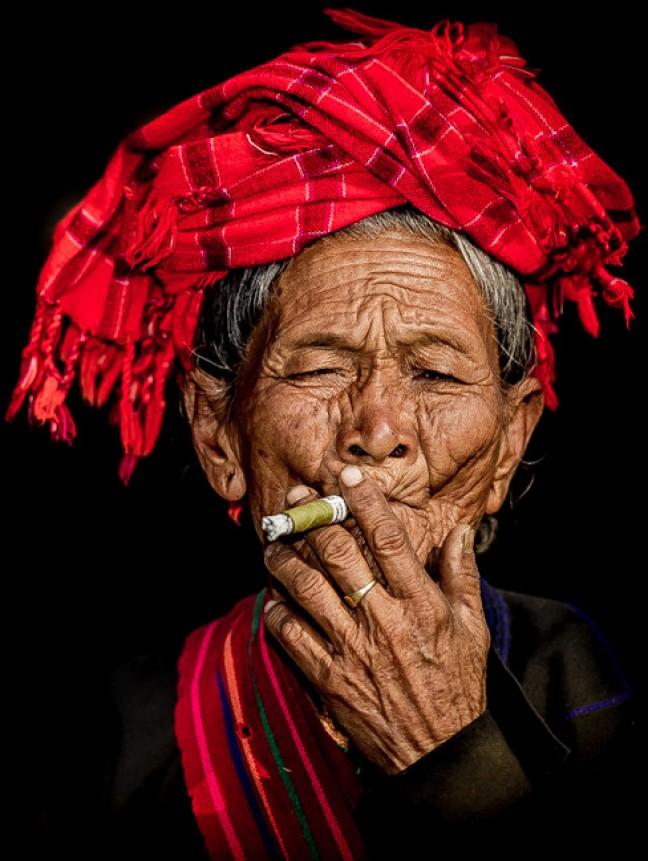 rokende dame