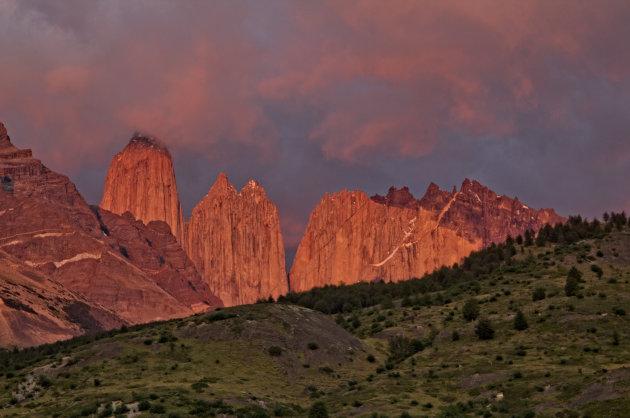 zonsopgang om 06.45 bij refugio Torres