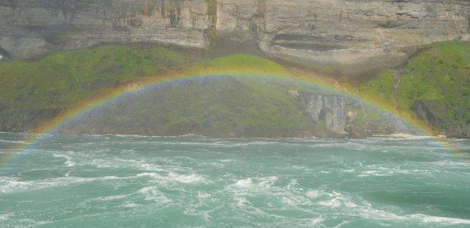 Regenboog bij de Niagara Falls