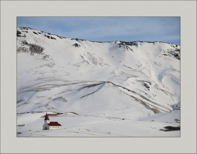 Kerkje in Vik y Myrdal