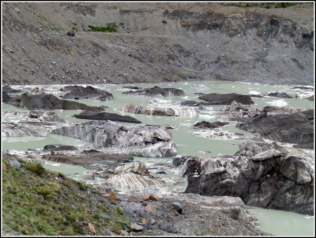 Zwarte gletsjer.
