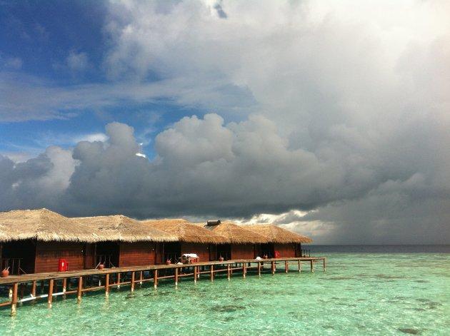 onvoorspelbaar weer op de Malediven
