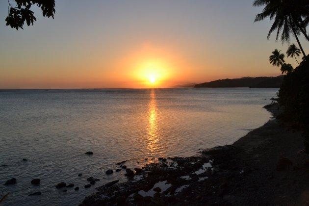 Typisch Fijiaanse zonsondergang