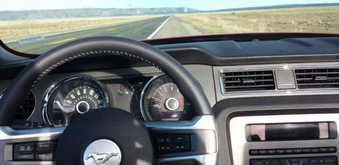 Route 66 in een Mustang Cabrio
