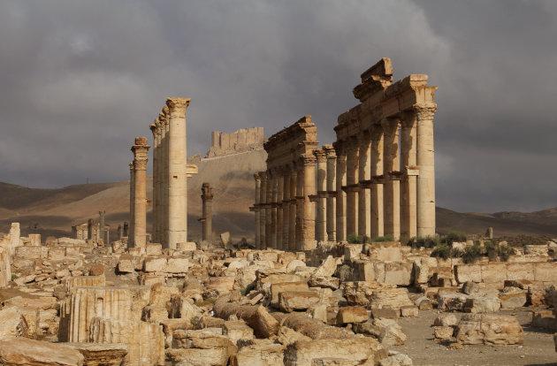 Dreigende lucht in Palmyra