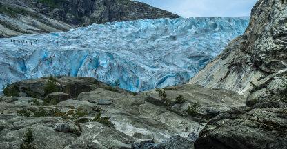 Hiken over de gletsjer