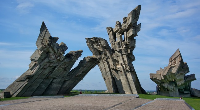 The memorial to the victims of Nazism at the Ninth Fort in Kaunas
