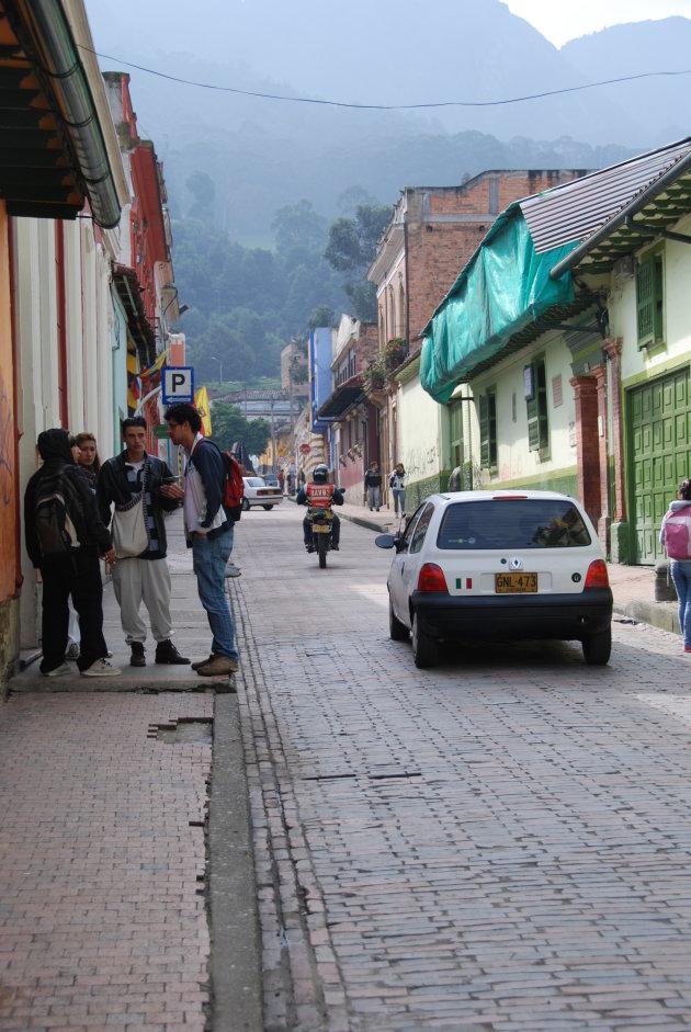 Straatje in Bogota