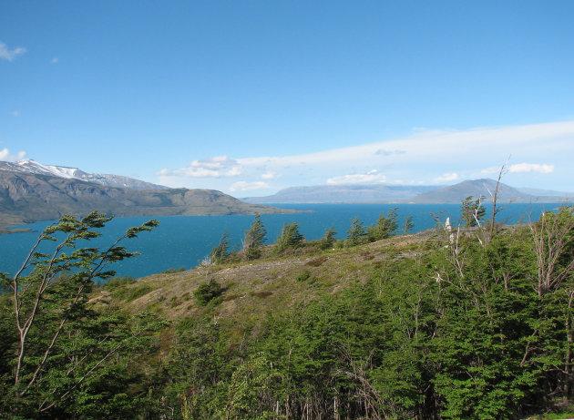 Meer bij national park Torres del Paine