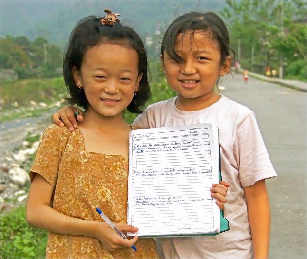 Huiswerk in Bhutan