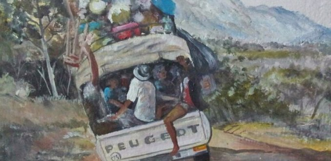 Muurschildering Bolide