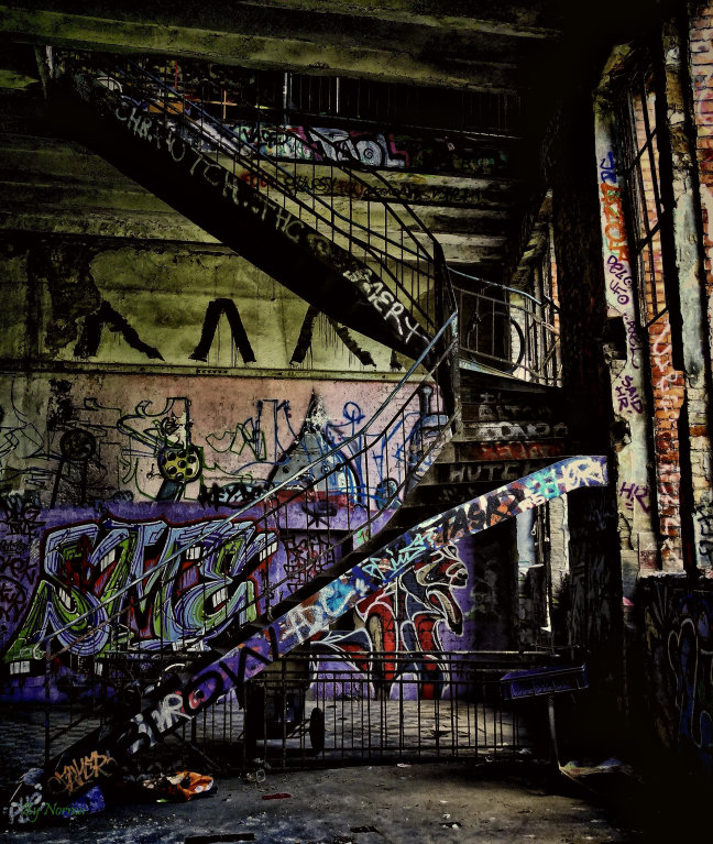 Upstairs please