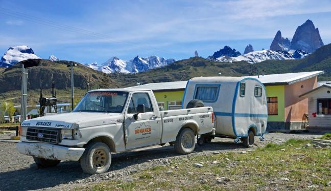 Bolide van Camping Bonanza in El Chaltén
