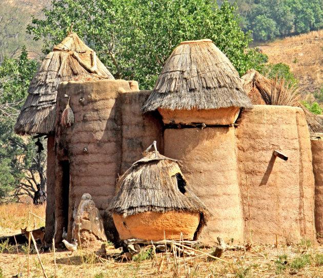 Huizen van modder