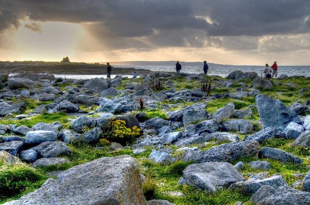 zicht op Aran Islands