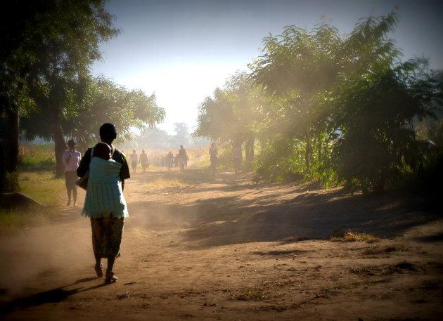Malawi aan het begin van de dag.