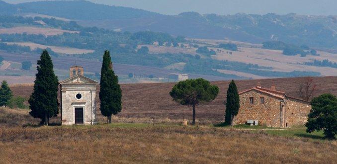 La cappella della Madonna di Vitaleta
