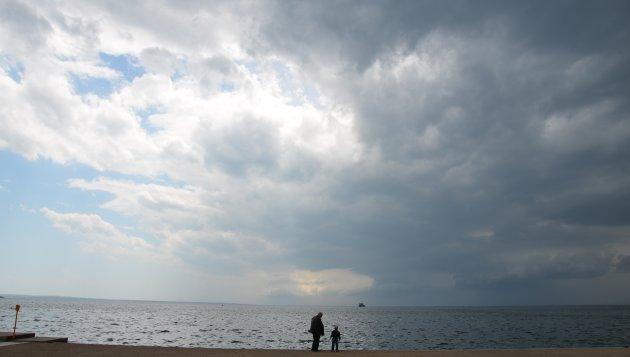 Storm boven Thessaloniki